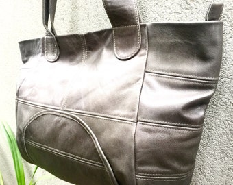 Cowhide Bag Leather Bag Slouch Bag Hobo Bag Cowfur Bag