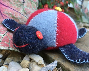 Toy Turtle Pincushion Felted Wool
