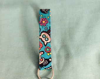 Sugar Skull Animals Skeleton Duct Tape Key Chain