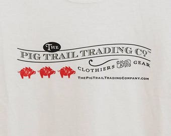 The Pig Trail Trading Company Logo T-Shirt Short-Sleeved for Ladies