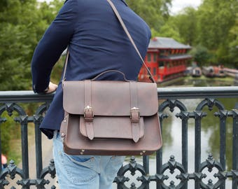 Brown Satchel Bike Bag