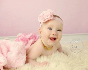 Alyssa Flower Headband Photo Prop Pink