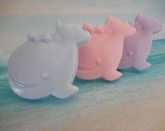 Whale Soaps - Whale Baby Shower Favor - Whale Party Favor - Baby Whale - Nautical Ocean Soap - Ocean Baby Shower - Sea Baby Favor