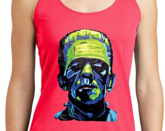 Ladies Frankenstein Face Dry Wicking Racerback 20719NBT2-LST356
