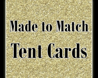 Matching Printable Tent Cards, Food Labels