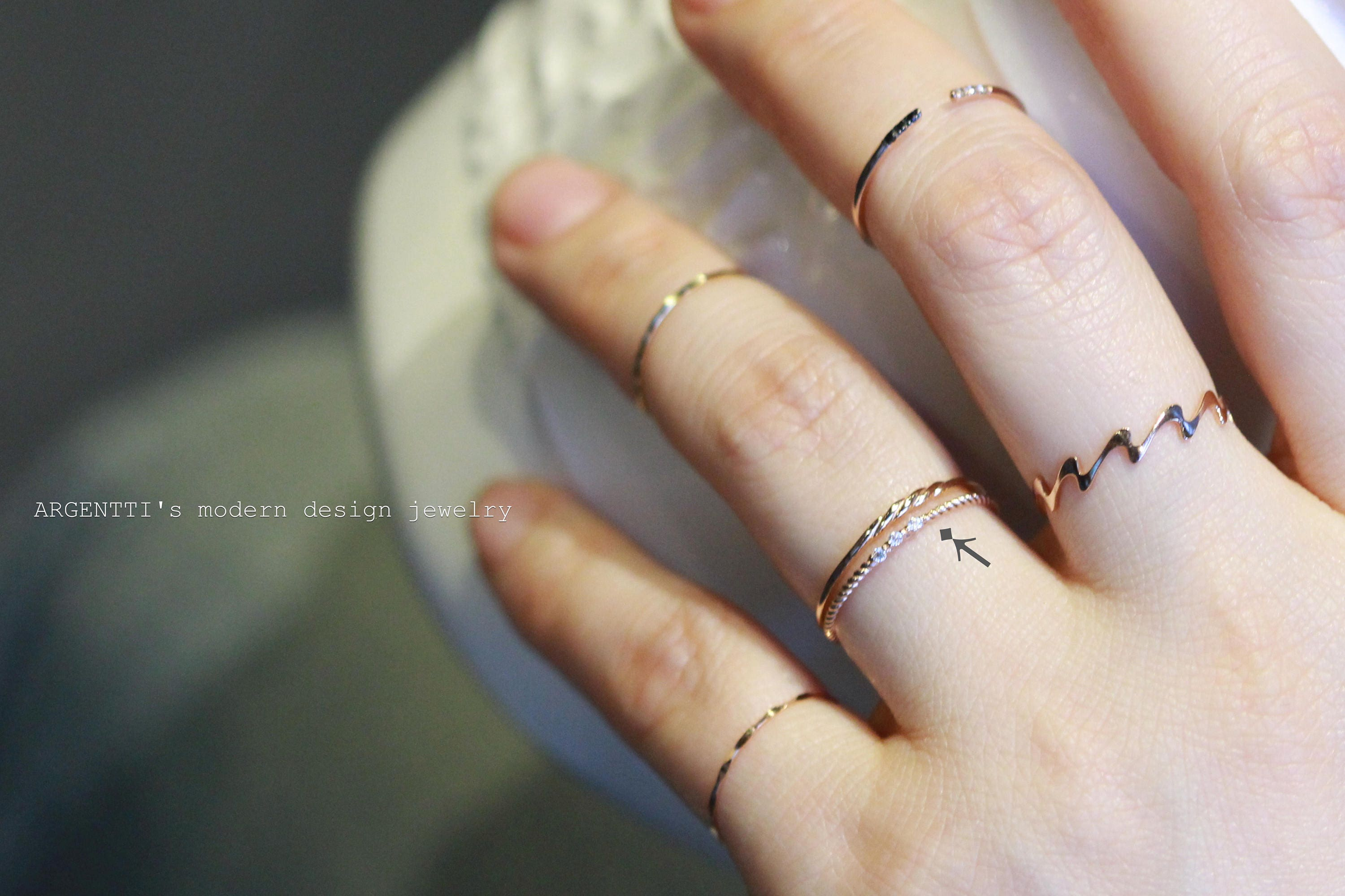 ksvhs girls thin skinny ring simple jewellery gold cute rings filled for
