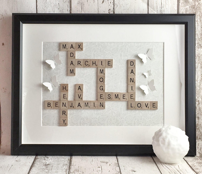 Scrabble Wall Tiles Fathers Day Framescrabble Framescrabble Wall Artscrabble Tiles