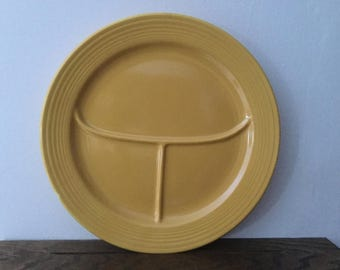 sale fiestaware yellow divided plates 2 vintage yellow 10 12 - Fiestaware Sale