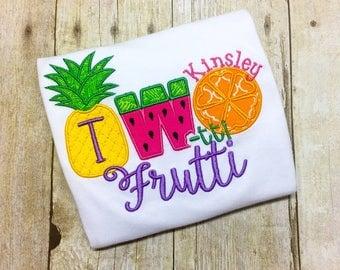 Two-tti Frutti Birthday Shirt - Fruit Second Birthday - Girls Second Birthday Shirt