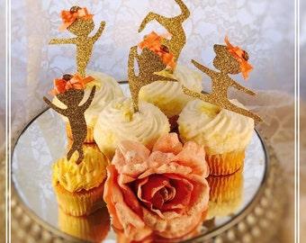 Gymnastics Cupcake Toppers - Gymnastics Party Decorations - Gymnastics Party Decor - Gymnastics Birthday Party Cupcake Toppers - Custom Made