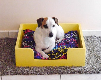 Bed or basket for dogs the Tinou-Reves Jellow