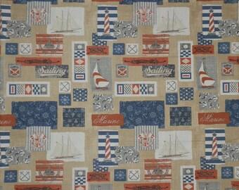 Beige American clipper Canvas Heavy Cotton Individual Fat Quarter – 100% Cotton