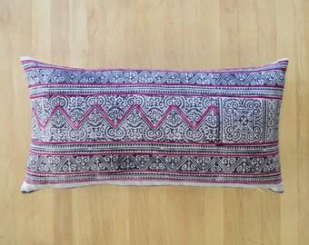 Vintage Hmong Lumbar Pillow