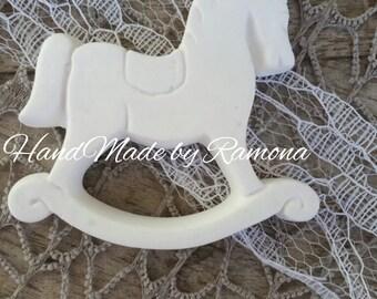 10 x 6 7 cm scented Chalks rocking horse, favor, placeholder, birth, baptism