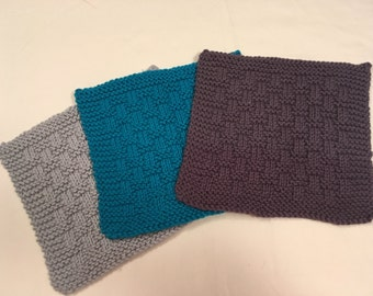 Hand Knit Cotton Washcloths