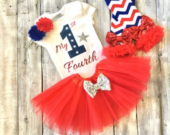 Baby girl first 4th of july outfit, My first 4th of july outfit, 1st fourth of july outfit, Girl fourth of july onesie, 4th of july tutu