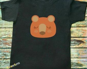 Woodland Friends, animal Shirt, Hipster Kids Shirts Fox shirt, Bear cub, Deer, grafic vinyl tee's, Summertime, Boho, Camping, Nature Shirts