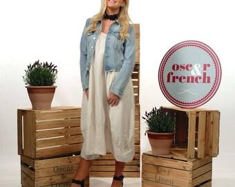 Linen Lagenlook Dress, Loose Dress, Oversized Dress, Linen Tunic Dress, Women's Linen Dress, Linen Tunic, Linen Summer Dress DOVE BEIGE