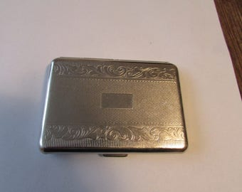 Vintage Deco Silver Cigarette Case Germany