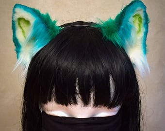 Green Kitten Ears