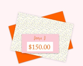 Gift Certificate 150 aud - print out straight away - can be used throughout 2017