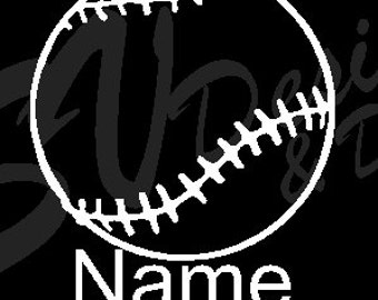 Baseball/Softball Name Decal