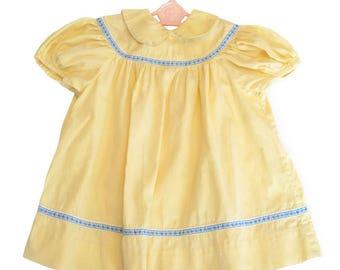 Vintage baby dress, toddler dress, 1950