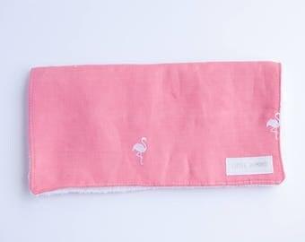 Burp Cloth - Pink Flamingo