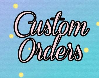 Custom Order Sticker Sheets
