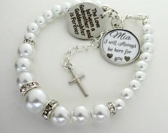 Goddaughter Bracelet Baptism gift Christening gift Goddaughter jewelry gift for Goddaughter gift Communion gift God daughter