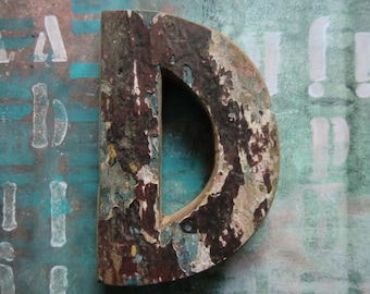 Vintage wooden letter nordic french shabby chic