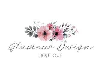 Floral Logo Design, Premade Logo, Watercolor Logo, Calligraphy Logo, Photography Logo, Feminine Logo, Handwritten Logo, Business Logo