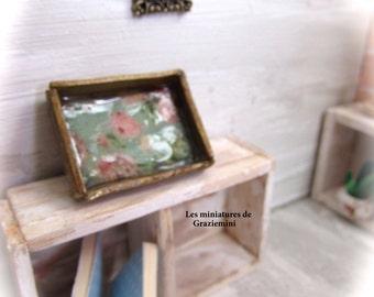 Miniature flower tray- scale1:12-Dollhouse miniatures