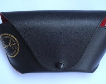 Vintage Ray Ban Sunglasses Case /Luxottica Black Storage Case/Glasses Case Ray-Ban Men Women /1980s
