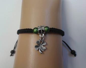 Four leaf clover bracelet - four leaf clover charm - lucky charm - good luck - lucky bracelet - clover jewelry - mothers day - gift for her
