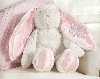 Monogrammed Easter Bunny ~ Plush monogrammed bunny ~ Mud pie Easter