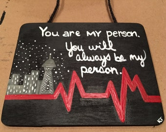 You're My Person | You Are My Person | Grey's Anatomy | Christmas Ornament | Small Wooden Plaque