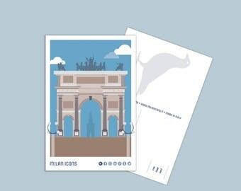 Milan Icons Postcard > Arco della Pace