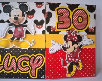 Mickey and Minnie birthday card, Mickey Mouse card, Minnie Mouse card, Disney birthday card, Disney card, Mickey Mouse Club House,