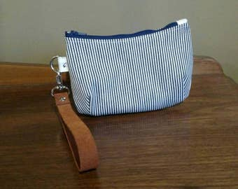 Mini Wristlet, leather strap