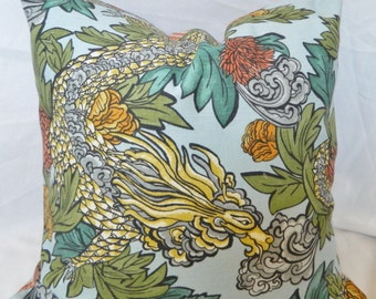 Robert Allen Ming Dragon-Aquatint- Decorative throw Pillow Cover lumbar pillow Cover / All Size
