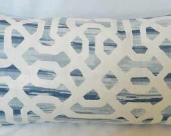 Kravet Frame In-River by Jeffrey Alan Marks / Decorative Lumbar Pillow Cover / Both Sided / All Size