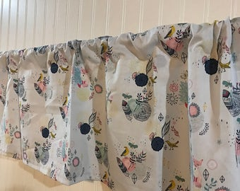 Spring flower and indian feathers  Curtain Valance
