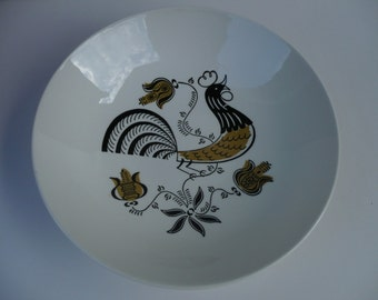 Good Morning Rooster Bowl by Royal, made in USA