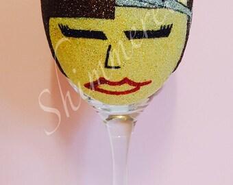Hairdresser glitter glass