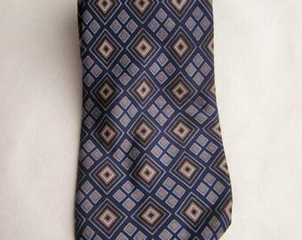 Vintage Tie, Mens Necktie, FREE SHIPPING, Mens tie, Blue necktie, Gift for Him, Solid necktie