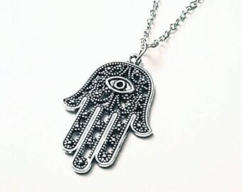 Cute Hamsa Hand Necklace!