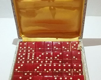 Vintage 50s galalith /Erinoid vintage dominoes dominoes dominoes/Vintage
