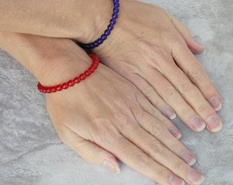 Gift BFF Bracelet - Game Day Bestie Bracelet - Team Spirit Sportswear - Team Colors Bracelets - Best Friends Forever - Good Luck Gift Ideas