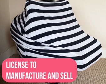 TWM - License to use TWM Stretchy Car Seat Cover Pattern in Business and Commerce